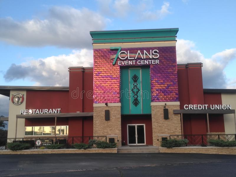 7 Clans casino redrock Oklahoma royalty free stock image
