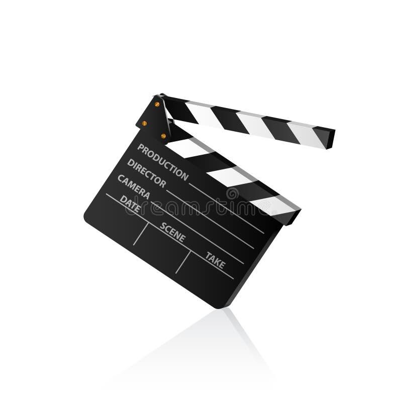 Clap board. Vector illustration of a film clap board royalty free illustration