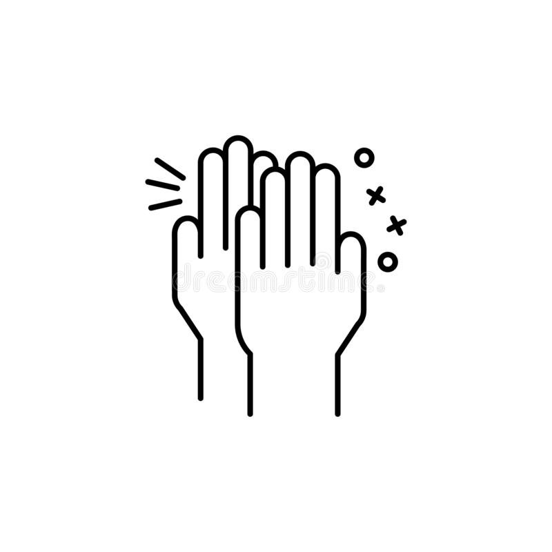 Clap hand friend icon. Element of friendship icon. On white background vector illustration