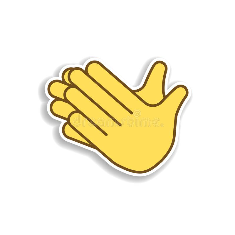 clap hands colored emoji sticker icon. Element of emoji for mobile concept and web apps illustration stock illustration