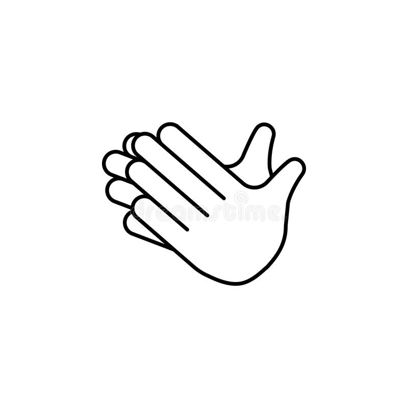 Clap hands icon. Detailed set of avatars of professions icons. Premium quality line graphic design. One of the collection icons fo. R websites, web design stock illustration