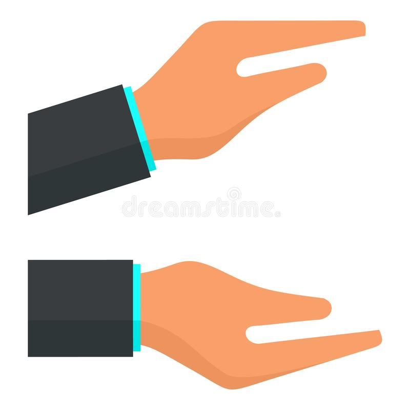 Clap hands icon, flat style. Clap hands icon. Flat illustration of clap hands vector icon for web design stock illustration
