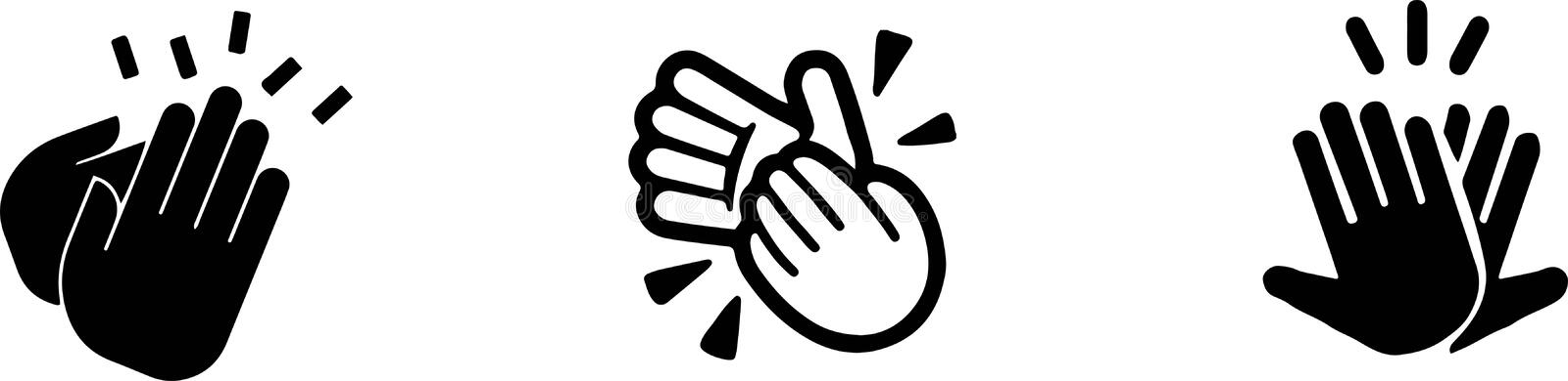 Clap icon on white background. Body,hands,clap vector illustration