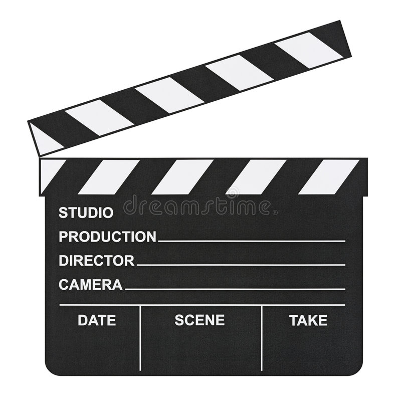 clapboard κινηματογράφων στοκ φωτογραφία με δικαίωμα ελεύθερης χρήσης