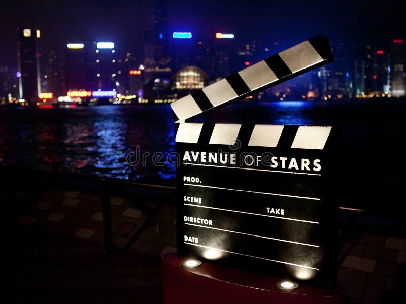 Clapboard ταινιών στοκ εικόνα