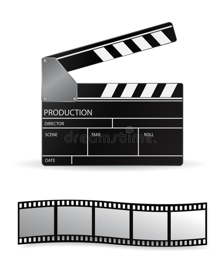 Download Clapboard stock vector. Image of cinema, clapperboard - 12157219