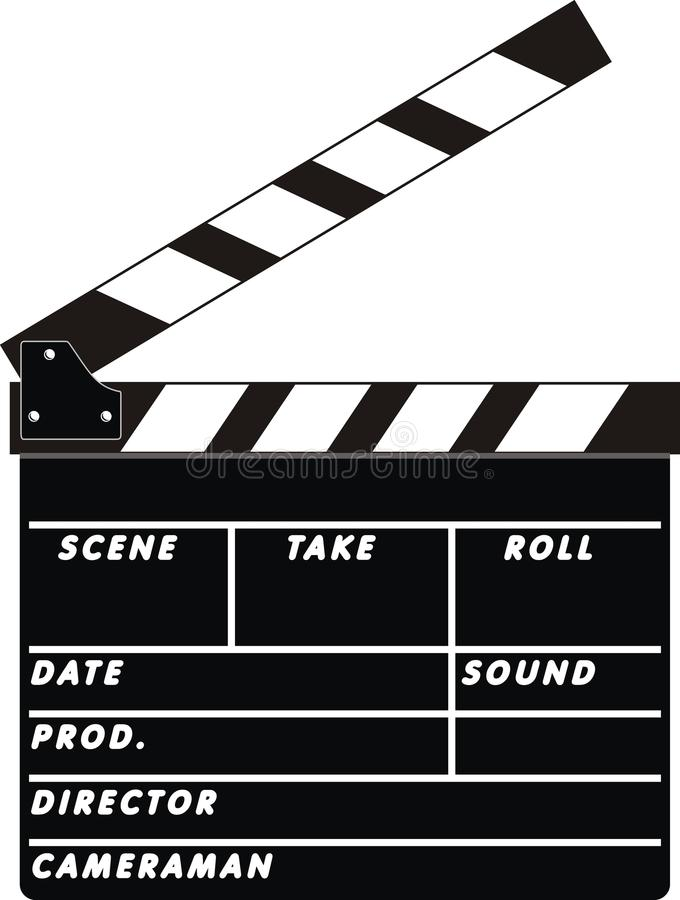 Download Clapboard stock vector. Image of clapboard, open, lights - 13184949
