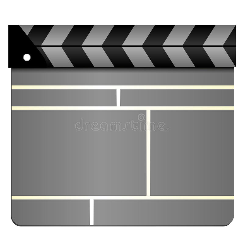 Download Clapboard stock vector. Image of director, clapper, closed - 16262115