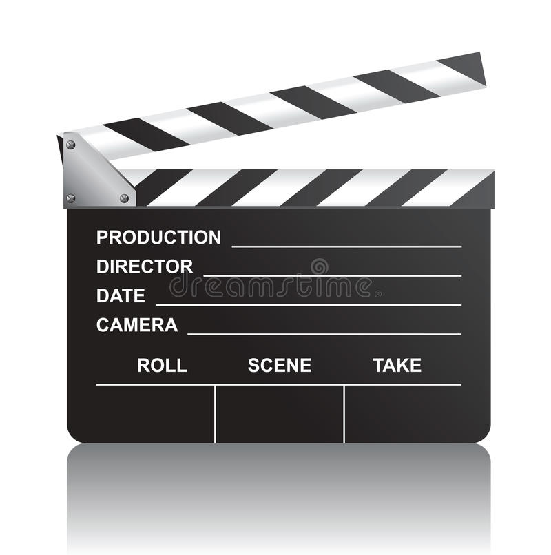 Download Clapboard stock vector. Illustration of hollywood, director - 18006777
