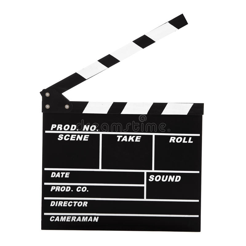 Clapboard fotografering för bildbyråer
