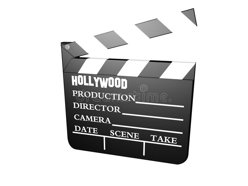 Download Clapboard stock illustration. Image of script, edit, movie - 25053124