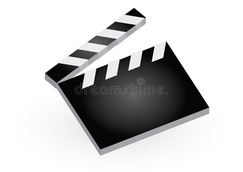 Download Clapboard stock vector. Image of director, blank, drama - 7370546