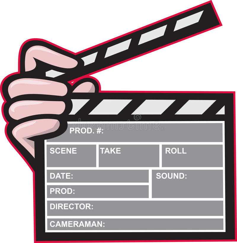 Download Clapboard Clapperboard Clapper Front Stock Vector - Illustration of hand, board: 25683395