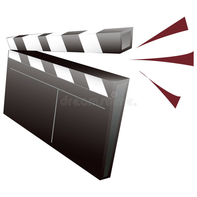 Clapboard with clipping path. Illustration with clipping path vector illustration