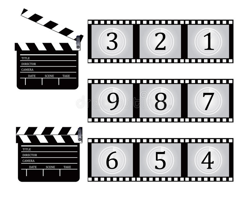 Download Clapboard And Film Countdown Stock Vector - Image: 29864983