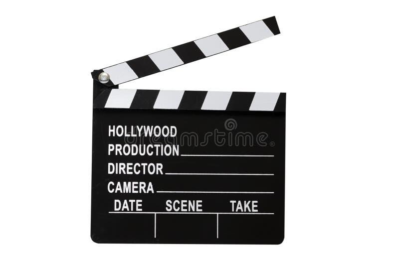 clapboarden isolerade film arkivbild