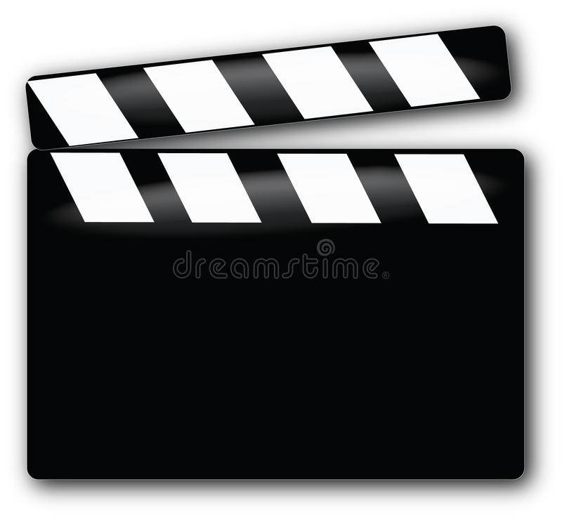 clapboardfilm stock illustrationer