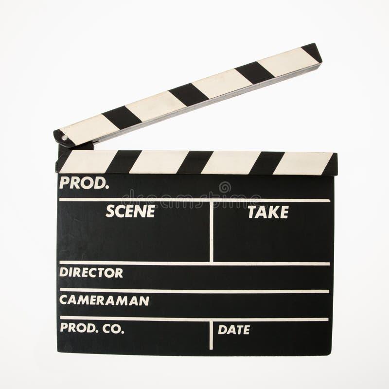clapboardfilm royaltyfri foto