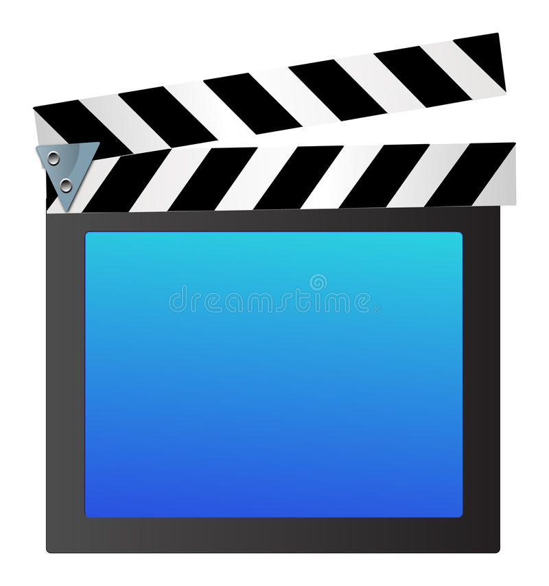 Clapet de film illustration stock