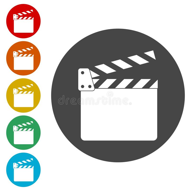 Clapet de film, aileron de film illustration stock