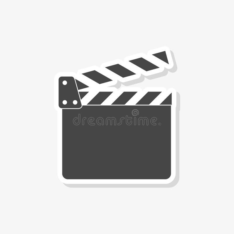 Clapet de film, autocollant d'aileron de film, icône simple de vecteur illustration libre de droits