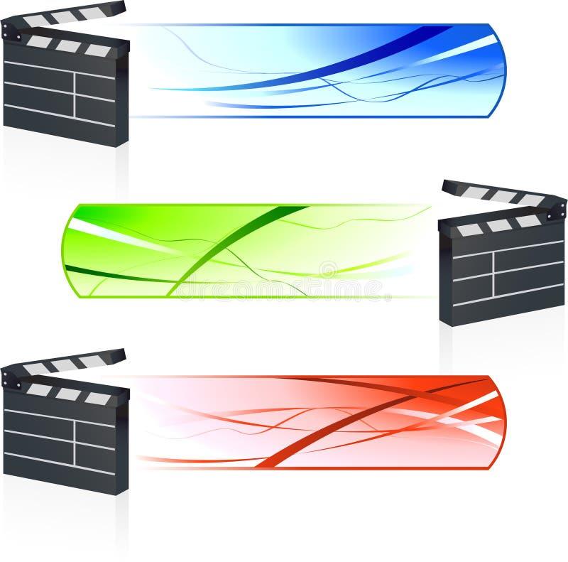 Clapet de film avec des bannières illustration de vecteur