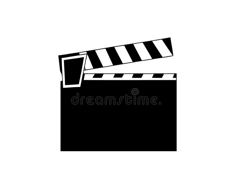 Clapet de film Film flap Graphisme simple illustration de vecteur