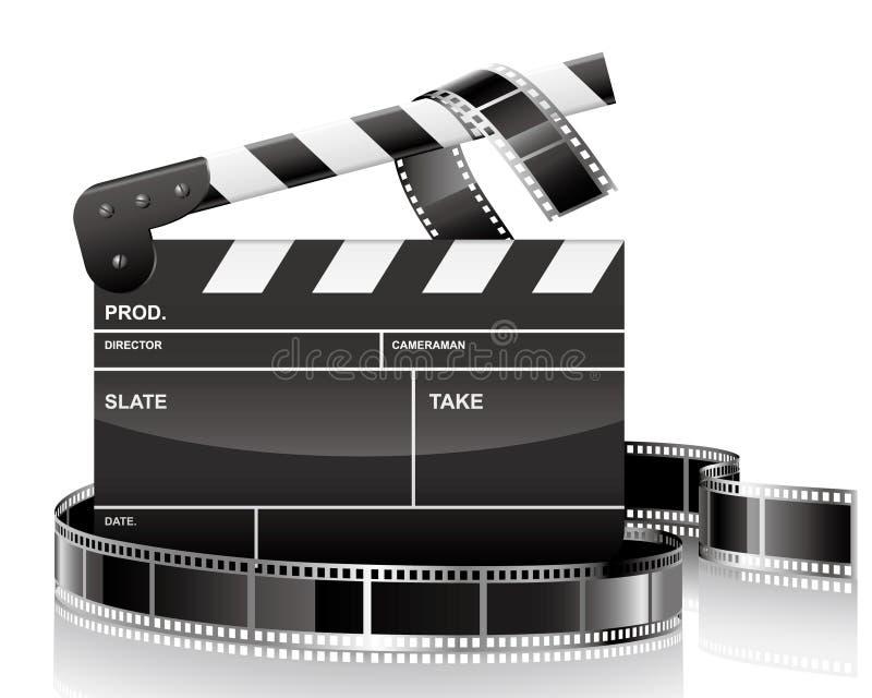 Clapet et film illustration libre de droits