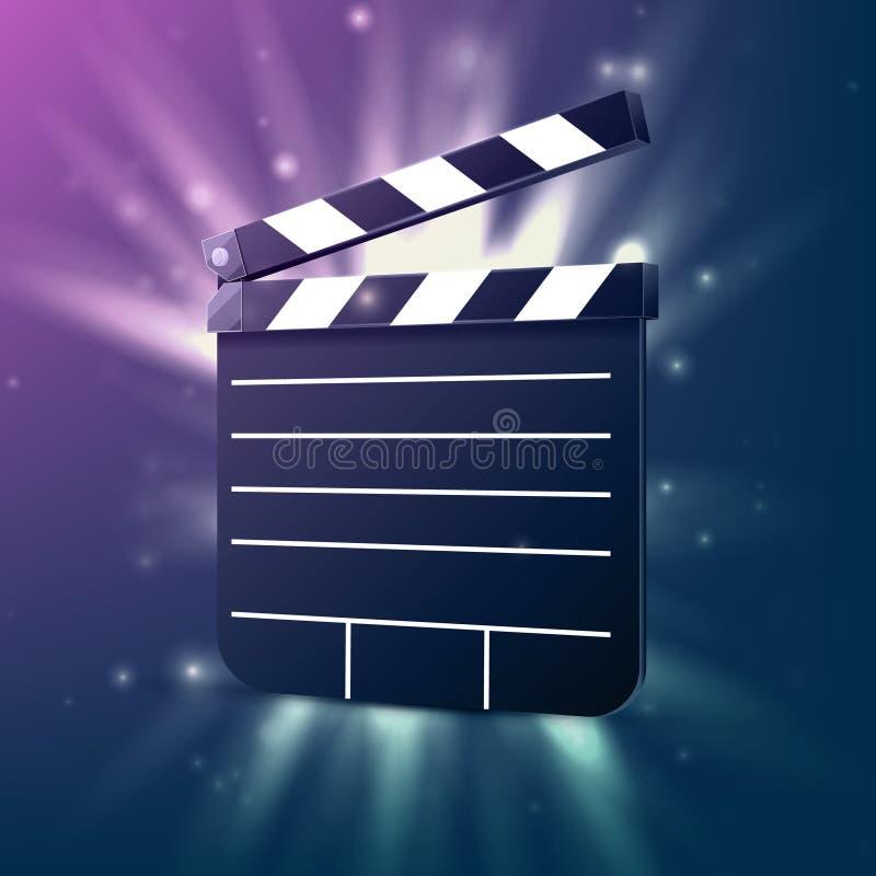 Clapet noir de cinéma illustration stock