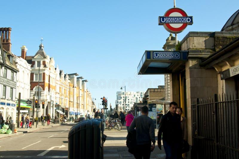 Clapham-Common-U-Bahnstation lizenzfreies stockbild
