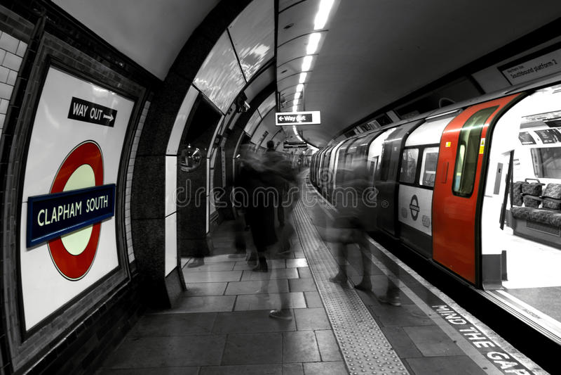 Clapham-U-Bahnstation stockbild