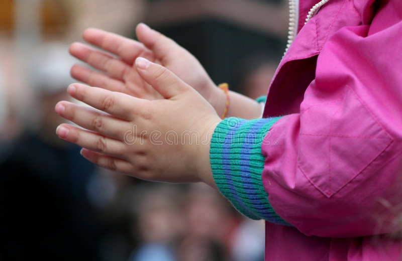 Claping hands stock images