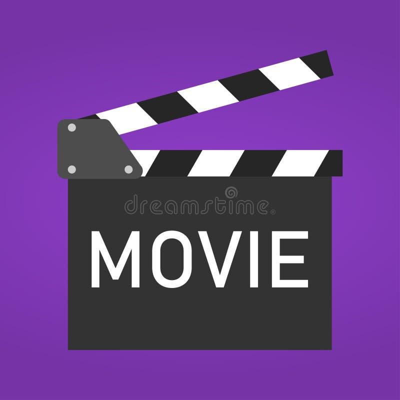 Clapper κινηματογράφων διασκέδασης εικονίδιο πινάκων Απεικόνιση στο επίπεδο ύφος διανυσματική απεικόνιση