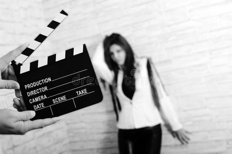 Clapper κινηματογράφων πίνακας στοκ φωτογραφία