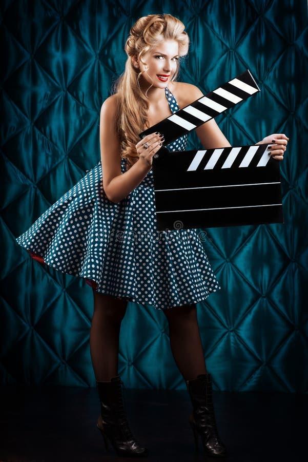 Clapper πίνακας στοκ εικόνες