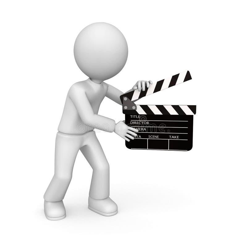 clapper ταινία απεικόνιση αποθεμάτων