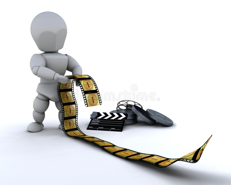 clapper χαρτονιών άτομο ταινιών σ&upsi διανυσματική απεικόνιση