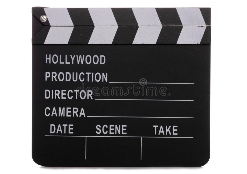 clapper χαρτονιών κινηματογράφο& στοκ εικόνες με δικαίωμα ελεύθερης χρήσης