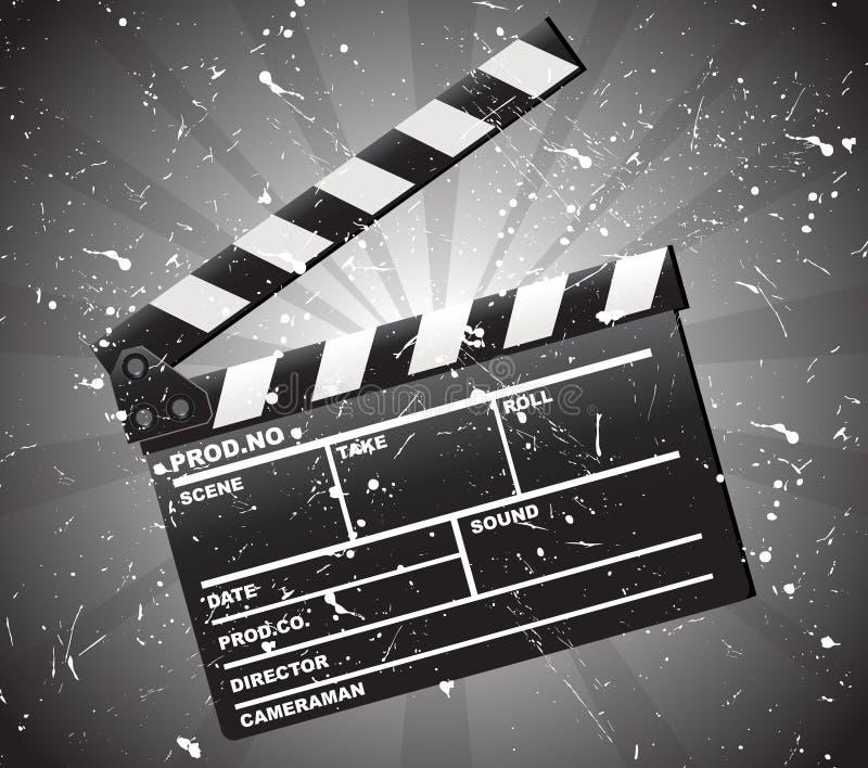 clapper χαρτονιών κινηματογράφο& απεικόνιση αποθεμάτων