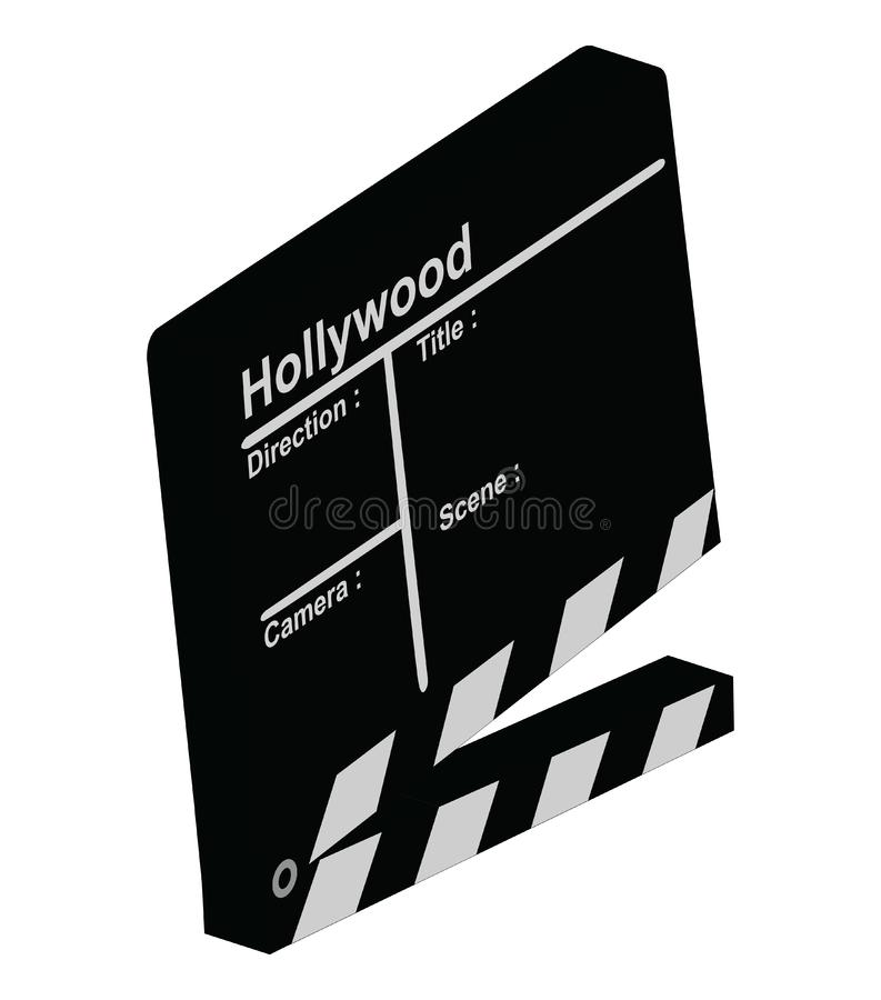 Clapper 3D zdjęcia stock