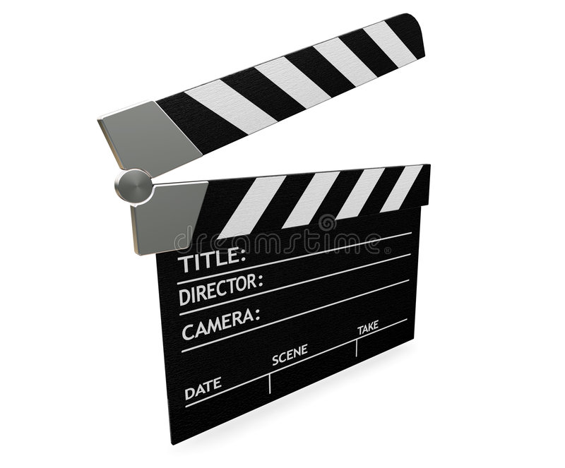 Clapper board royalty free illustration