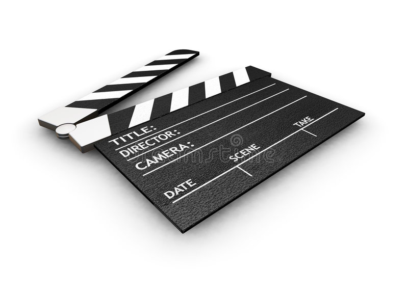 Download Clapper board stock illustration. Image of night, background - 1410716