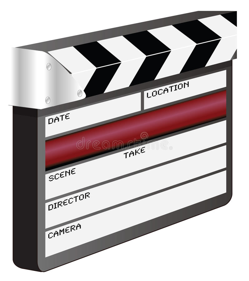 Download Clapper board stock vector. Illustration of ciack, producer - 19926288