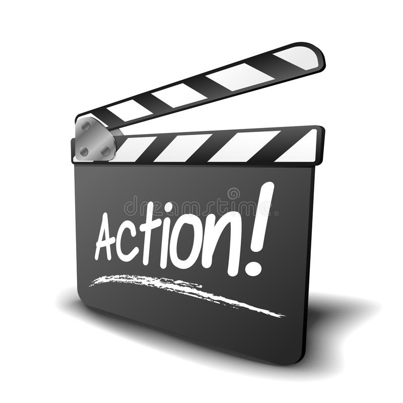 Free Clapper Board Action Royalty Free Stock Photos - 34524178