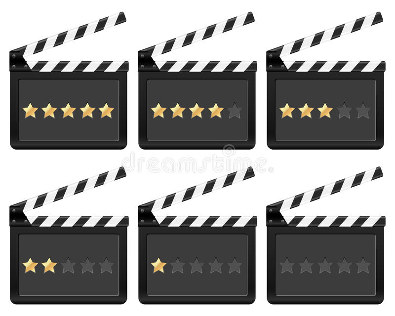Clapper Board With Stars Stock Image