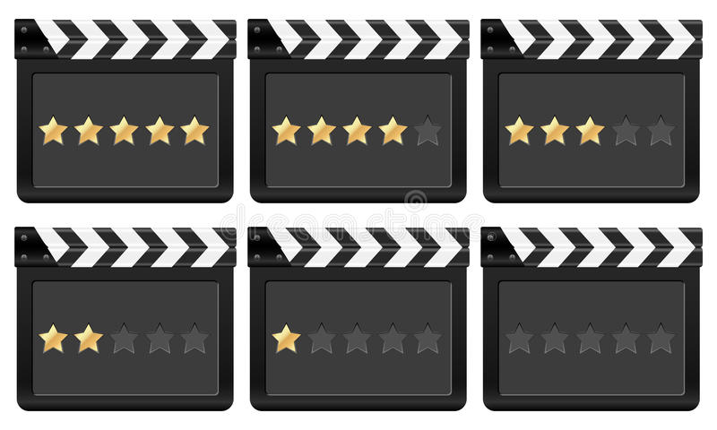 Download Clapper board with stars 2 stock vector. Image of camera - 17537613