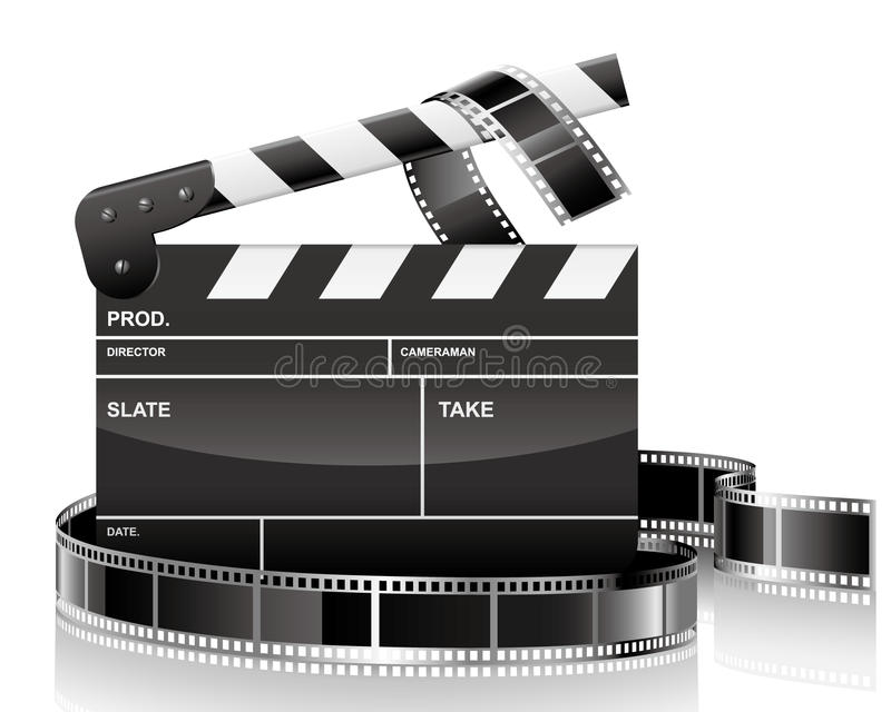 Clapper And Film Stock Images