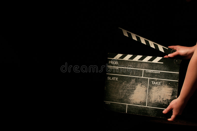 clapper film obraz royalty free