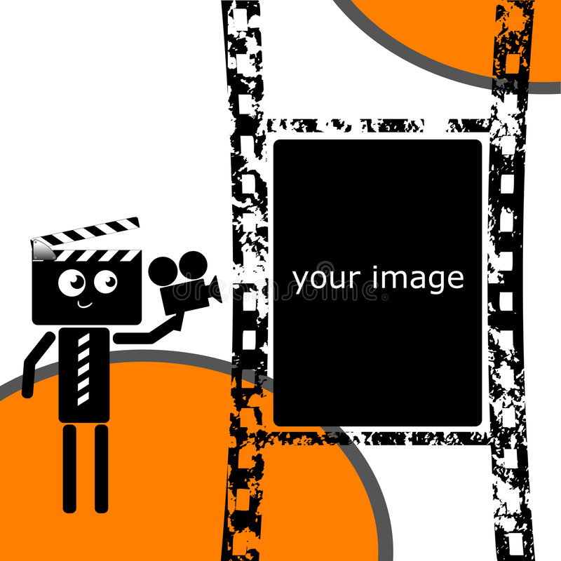 clapper filmstrip απεικόνιση αποθεμάτων