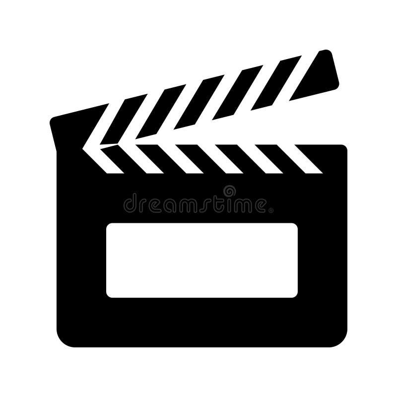 Clapper glyph διανυσματικό εικονίδιο διανυσματική απεικόνιση